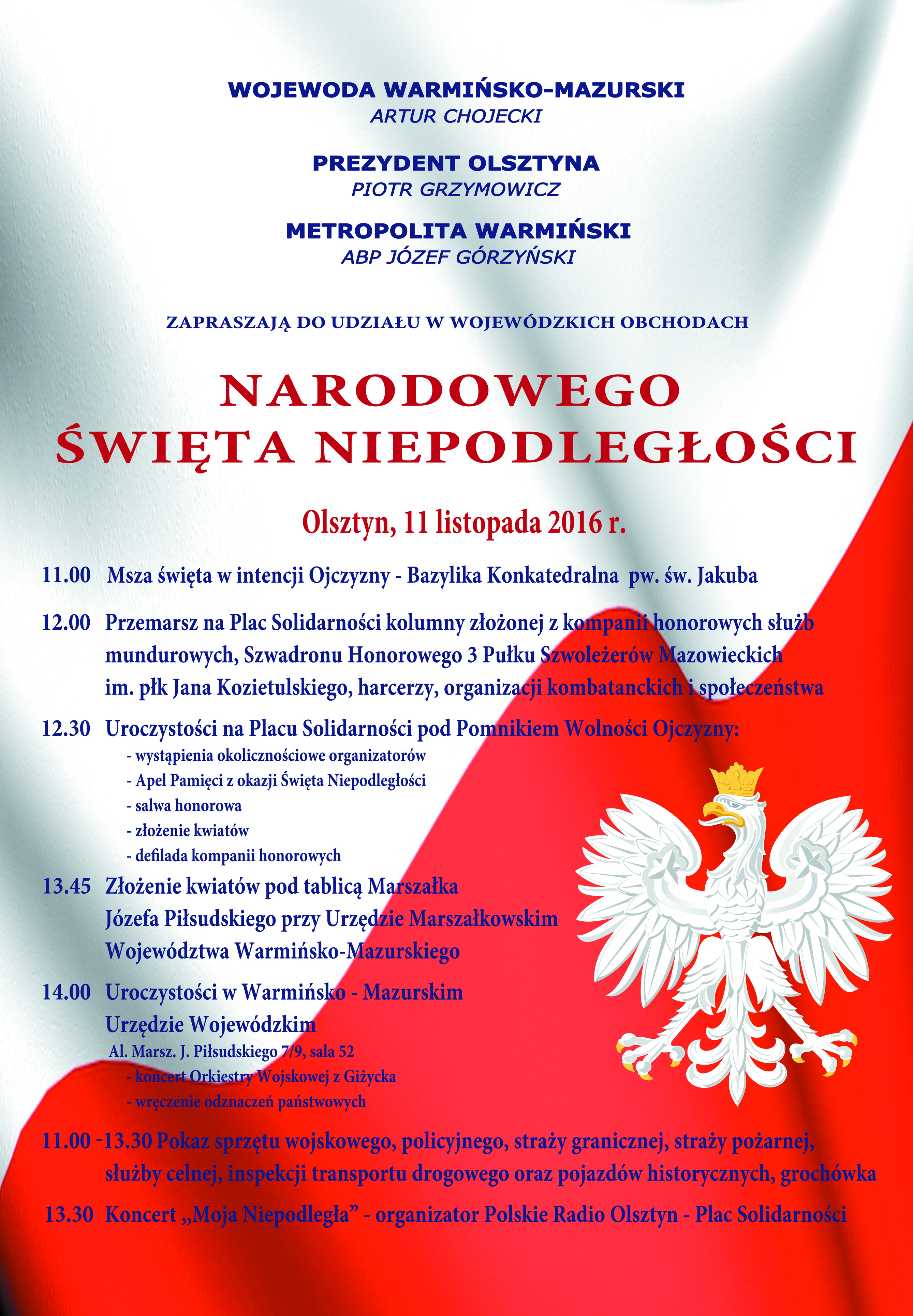 święto Niepodległości W Olsztynie